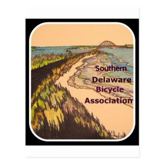 Logotipo do sul da associação da bicicleta de cartão postal