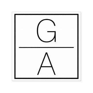 Logotipo dobro moderno do casamento do monograma carimbo auto entintado