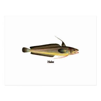 Logotipo dos peixes das pescadas cartão postal