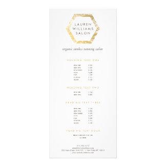 Logotipo dourado do salão de beleza Tanning do Panfleto