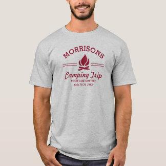Logotipo feito sob encomenda retro do vermelho da camiseta