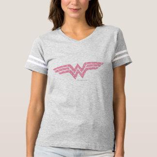 Logotipo floral cor-de-rosa colorido da mulher camiseta