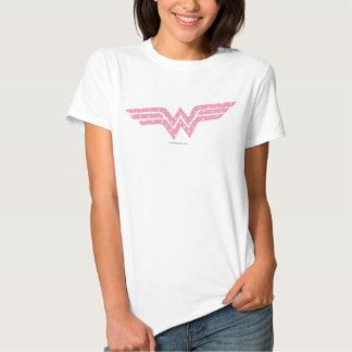 Logotipo floral cor-de-rosa colorido da mulher camisetas