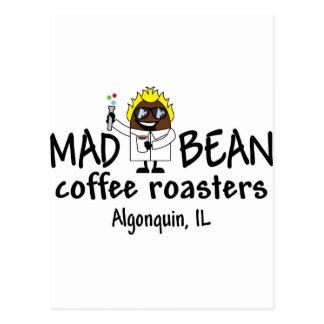 Logotipo louco do feijão cartão postal