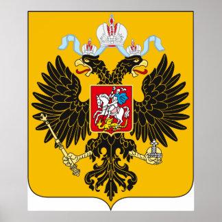 Logotipo oficial de Rússia do império de russo da Posters