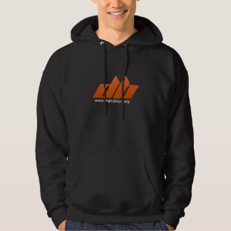 Logotipo preto da laranja do Hoodie de Digitalhive Moletom Com Capuz