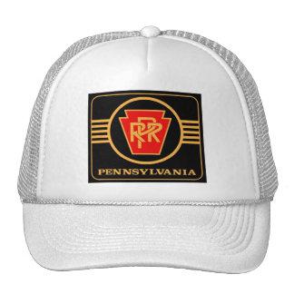 Logotipo, preto & ouro da estrada de ferro de boné