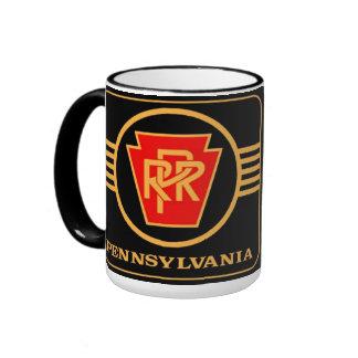 Logotipo, preto & ouro da estrada de ferro de caneca com contorno