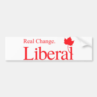 Logotipo real do liberal da mudança adesivo para carro