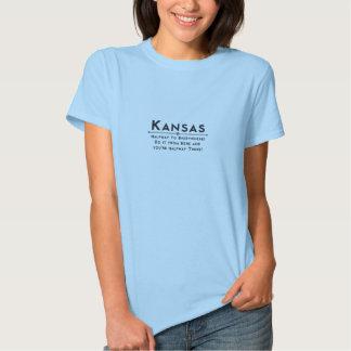 Logotipo relativo à promoção do t-shirt de Kansas