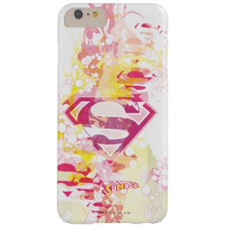 Logotipo retro de Supergirl Capa Barely There Para iPhone 6 Plus