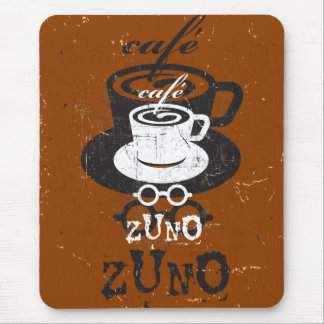 Logotipo riscado Zuno 03 do café Mouse Pad