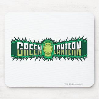 Logotipo verde da lanterna - chamas verdes mousepad