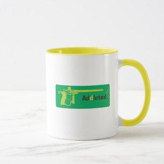 Logotipo verde viciado do Paintball Caneca