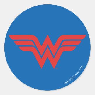 Logotipo vermelho da mulher maravilha adesivo
