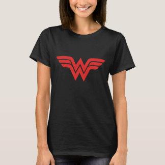 Logotipo vermelho da mulher maravilha tshirt