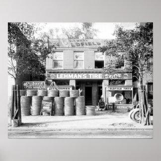 Loja adiantada do pneu, 1921 poster
