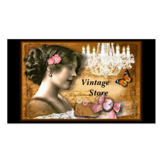Loja antiga da loja do vintage cartão de visita