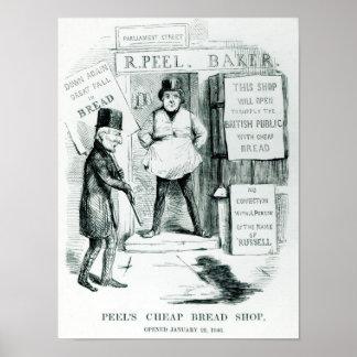 Loja barata do pão da casca poster