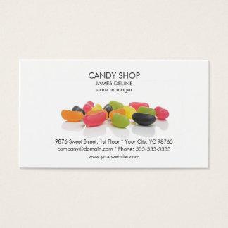 Loja colorida clássica dos doces dos doces cartão de visitas