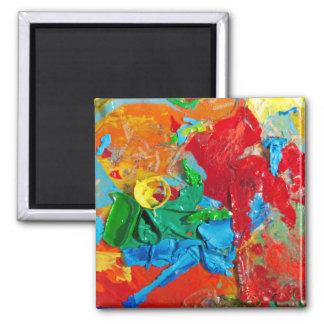 Loja da arte ímã quadrado
