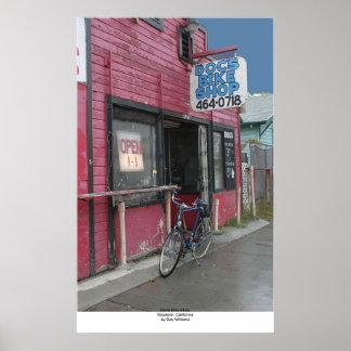 Loja da bicicleta do Doc, Stockton, Califórnia Poster