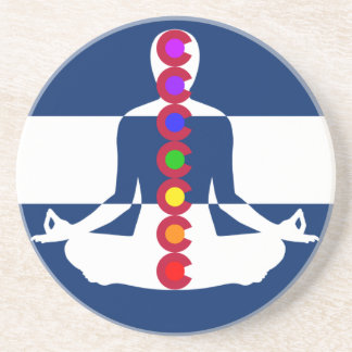 Loja da meditação de Colorado Chakra Porta Copos De Arenito