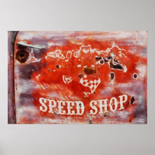 Loja da velocidade pôsteres