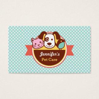 Loja de alimentos para animais de estimação dos cartão de visitas