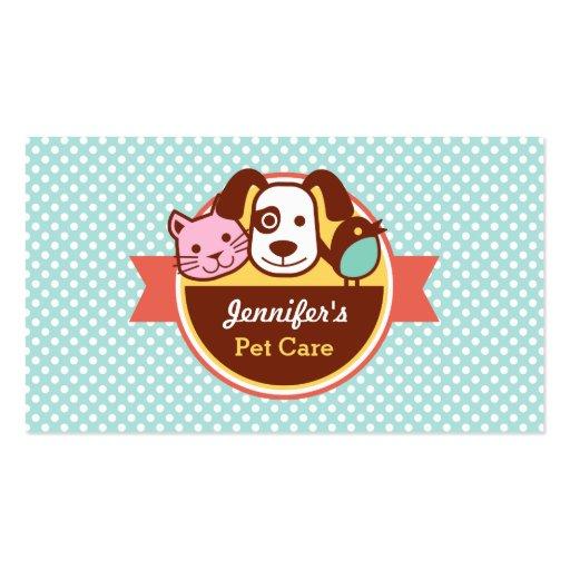 Loja de alimentos para animais de estimação dos cu cartao de visita