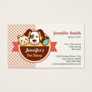 Loja de animais de estimação - bolinhas bonitos cartão de visitas