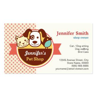 Loja de animais de estimação - bolinhas bonitos cartão de visita