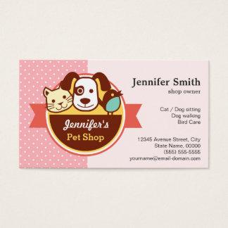 Loja de animais de estimação - bolinhas cartão de visitas
