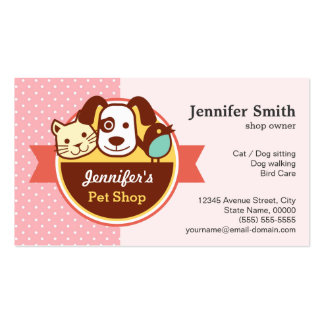 Loja de animais de estimação - bolinhas cartão de visita