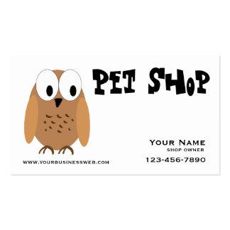 Loja de animais de estimação cartão de visita