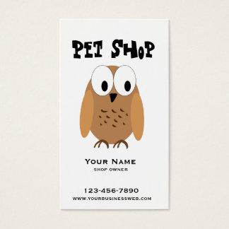 Loja de animais de estimação cartão de visitas