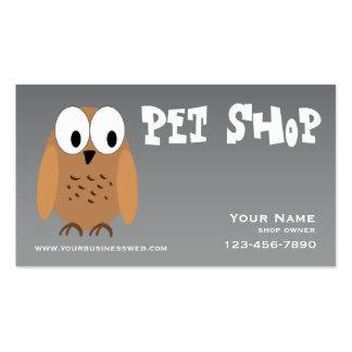 Loja de animais de estimação de prata cartão de visita