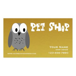 Loja de animais de estimação do ouro cartão de visita