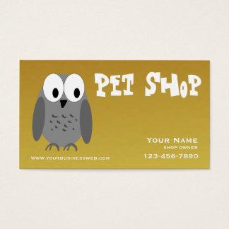 Loja de animais de estimação do ouro cartão de visitas