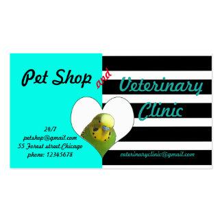Loja de animais de estimação e clínica veterinária cartão de visita