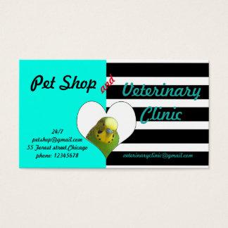 Loja de animais de estimação e clínica veterinária cartão de visitas
