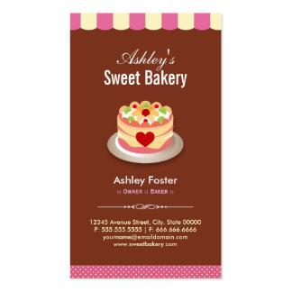 Loja doce da padaria - o costume endurece a cartão de visita