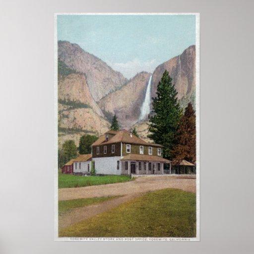 Loja e estação de correios do vale de Yosemite Impressão