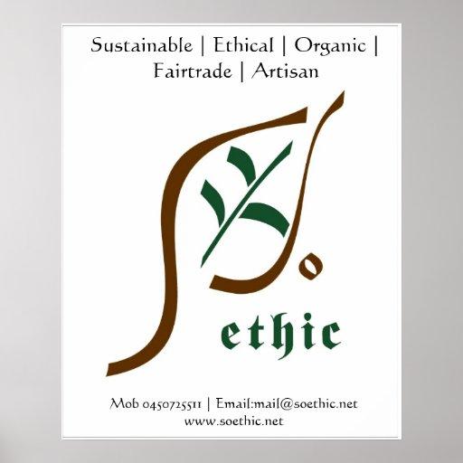Loja ética da forma posters