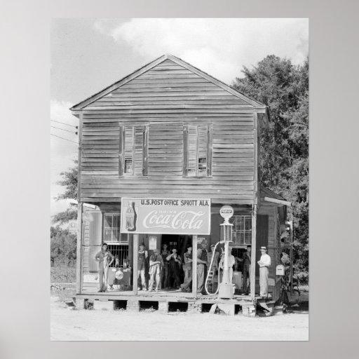 Loja geral & Estação de correios, 1935 Pôsteres