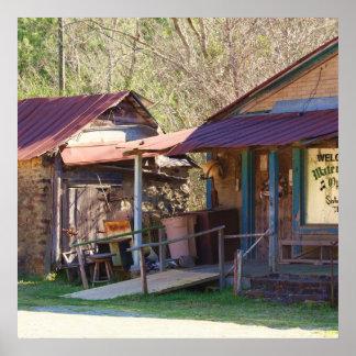 Loja geral rústica e rural pôsteres