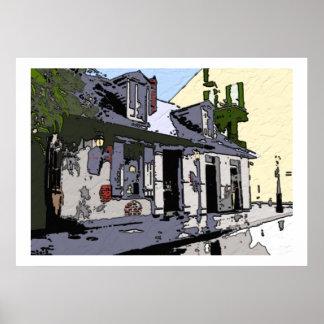 Loja preta de Smith do bairro francês, Impressão