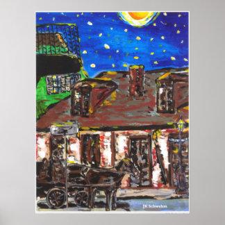 Loja preta velha de Smith da noite estrelado Poster