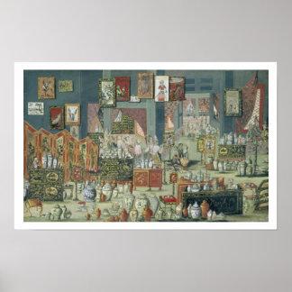 Loja que vende bens chineses, mediados do século X Poster