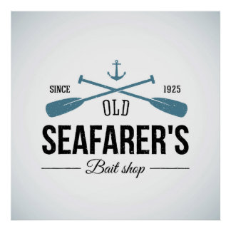 Loja velha da isca dos marinheiros poster